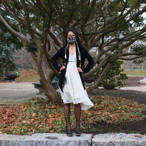 Gauzy Ivory Strappy Dress with Crochet Lace